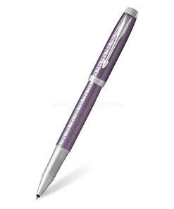 PARKER IM Premium Rollerball Pen Dark Violet CT - ปากกาโรลเลอร์บอลป๊ากเกอร์ ไอเอ็มพรีเมี่ยม ดาร์กไวโอเลต ซีที สีม่วงคลิปเงิน